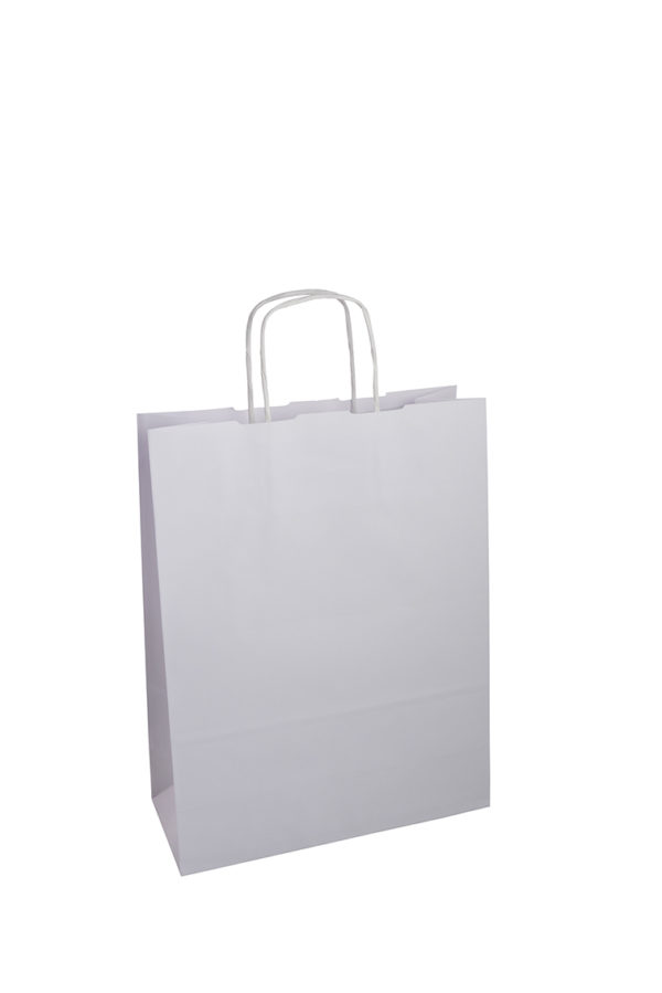 white paper bags promotional products