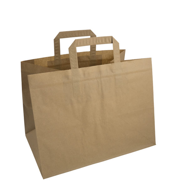 Brown Take Away Paper Bag Promotional Products